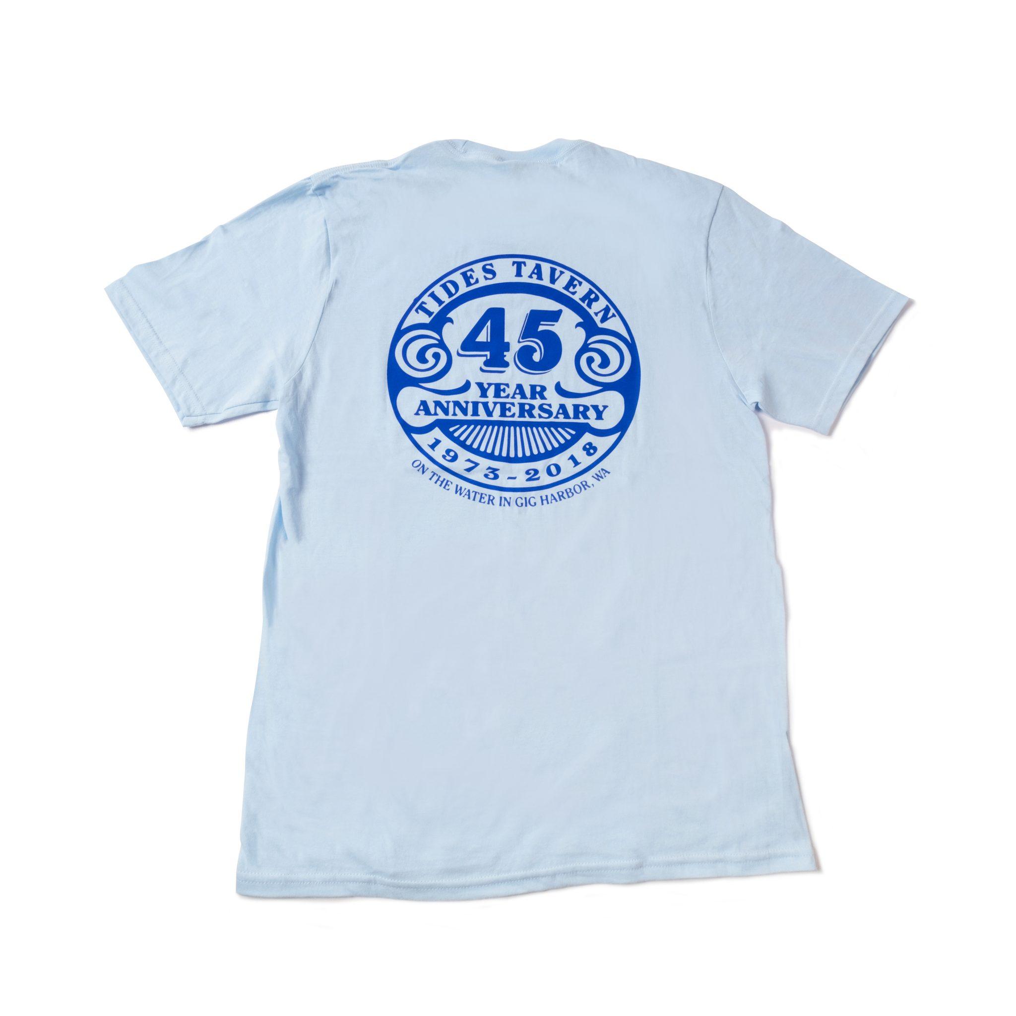 Tides 45th Anniversary T Shirt Blue Tides Tavern
