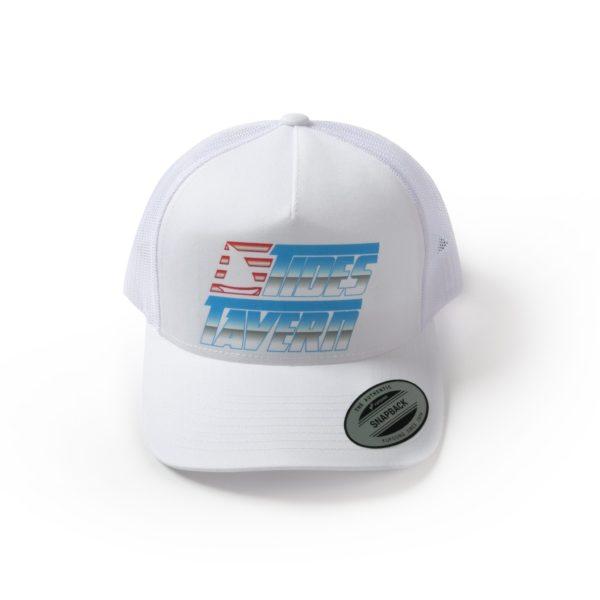 75f32b9e Tides Tavern Retro Logo Trucker Hat – White